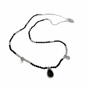 Colgante de plata Alina espinela y perlas