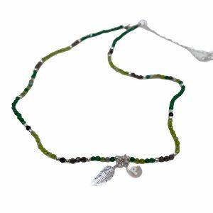 Colgante de plata Alina Jade y piedras semipreciosas