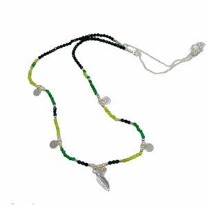 Colgante de plata Alina Jade, espinela y perla