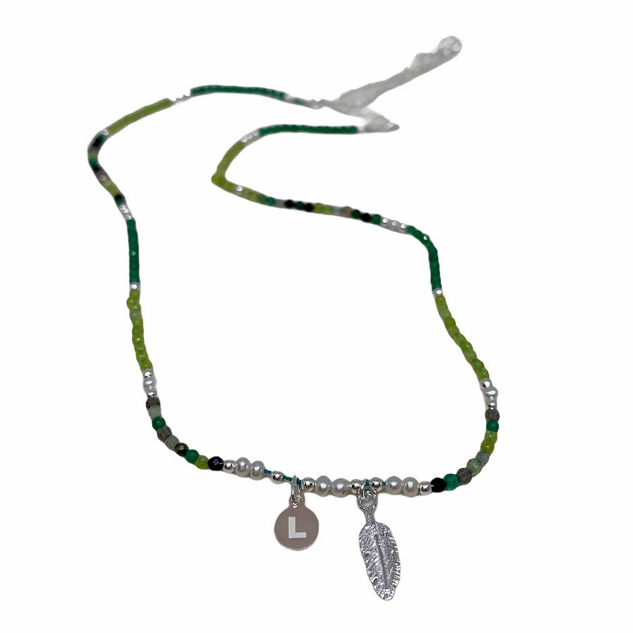 Colgante de plata Alina Jade y perla cultivada